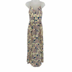 1.State XS Maxi Dress Vneck Strappy Floral Print